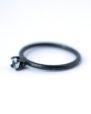 December Birthstone Ring-Spinel Oxidized Silver Ring | LoveGem Studio