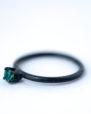 May Birthstone Ring - Emerald Oxidized Silver Ring | LoveGem Studio