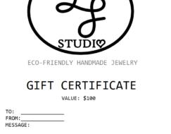 Gift Certificate - Last Minute Gifts | LoveGem Studio