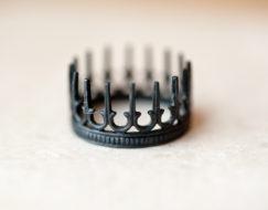 Oxidized Silver Rings - Crown Rings - LoveGem Studio-2
