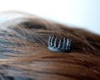 Oxidized Silver Rings - Crown Rings - LoveGem Studio-21