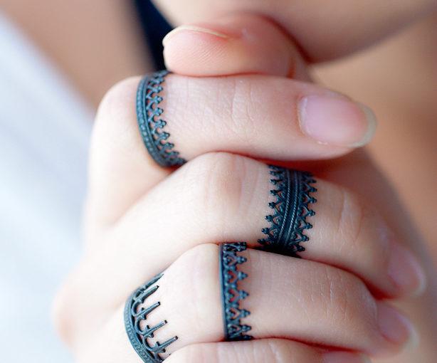 Oxidized Silver Rings - Crown Rings - LoveGem Studio-25-2