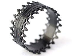 Oxidized Silver Rings - Crown Rings - LoveGem Studio-32