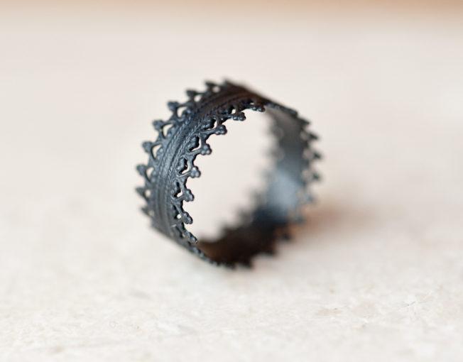 Oxidized Silver Rings - Crown Rings - LoveGem Studio-5