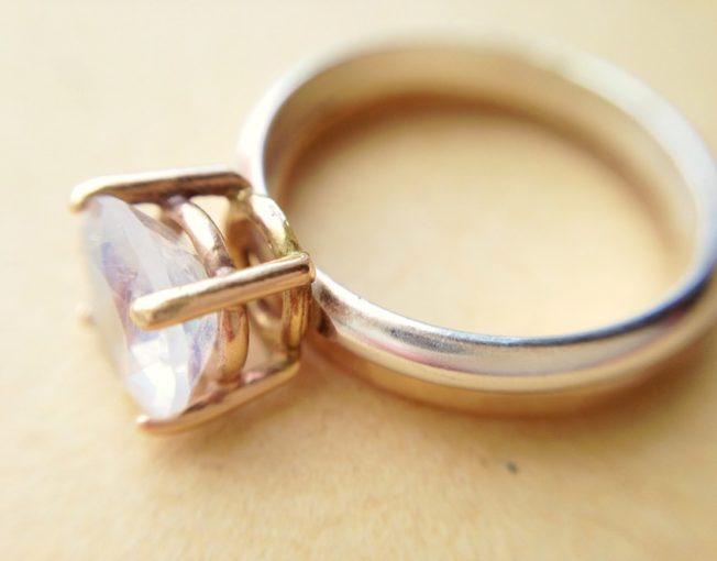 Moonstone Engagement Ring_Handmade Jewelry_LoveGem Studio 224