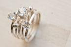 White Topaz gemstone ring set
