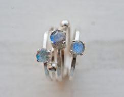 Labradorite Gemstone Ring Set
