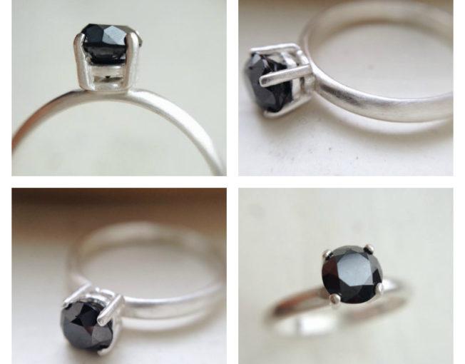 Earth Mined Black Diamond Ring